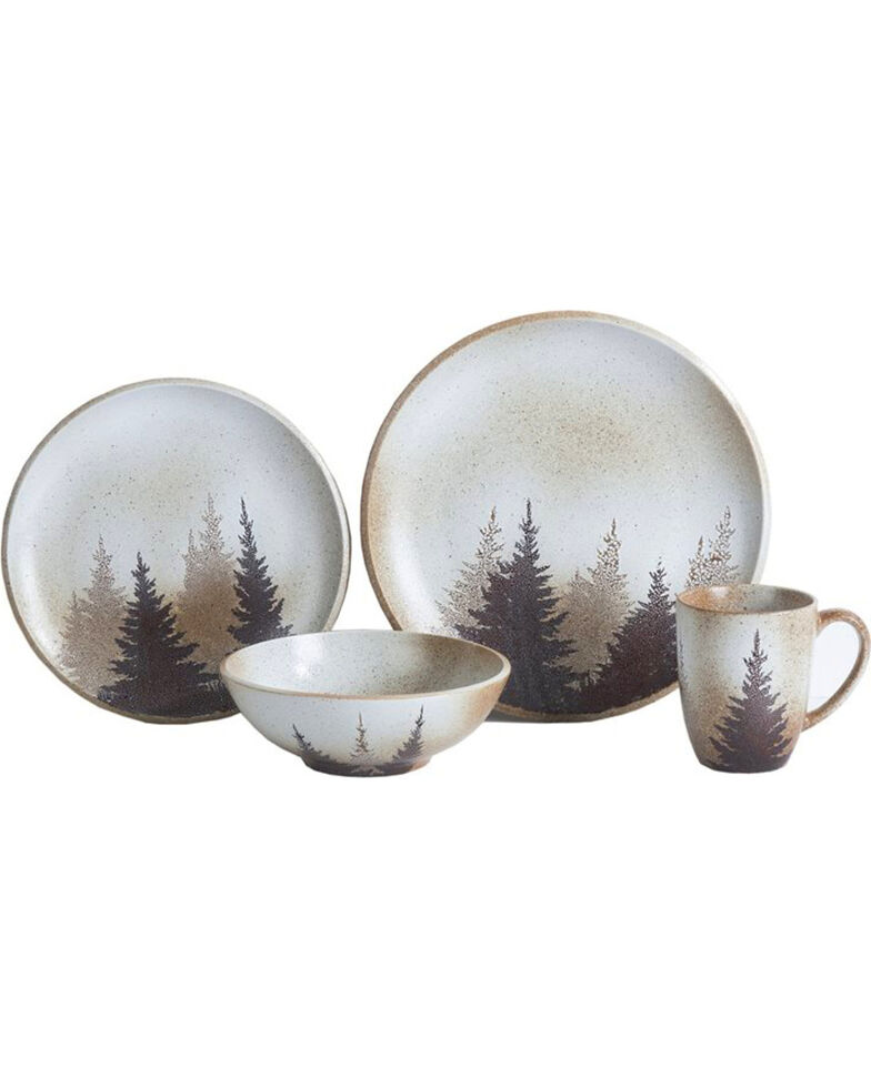 HiEnd Accents 16-piece Clearwater Pines Dinnerware Set, Multi, hi-res