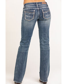Rock & Roll Cowgirl Women's Medium Vintage Riding Jeans, Blue, hi-res