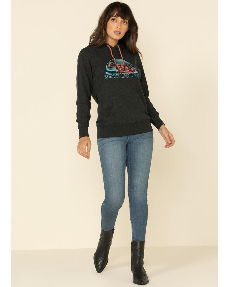 HOOey Women's Grey Neon Rodeo Hoodie Sweatshirt, Grey, hi-res