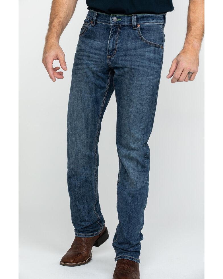 Wrangler Retro Men's Medium Stretch Bootcut Jeans - Long , Blue, hi-res
