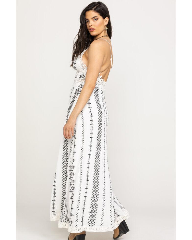 Miss Me Women's Aztec Stripe Maxi Dress, White, hi-res