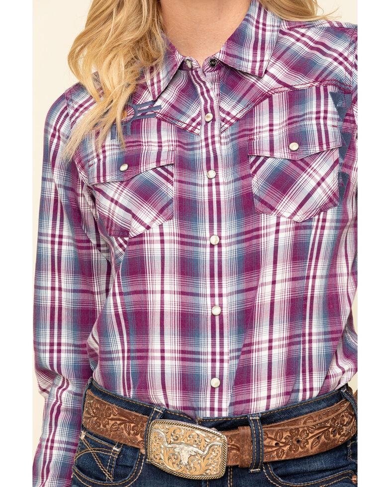 Ariat Women's Imperial Violet Stripe Incredible Long Sleeve Shirt , Violet, hi-res