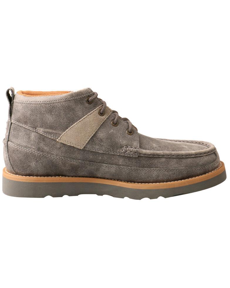 Twisted X Men's Wedge Sole Shoes - Moc Toe, Grey, hi-res