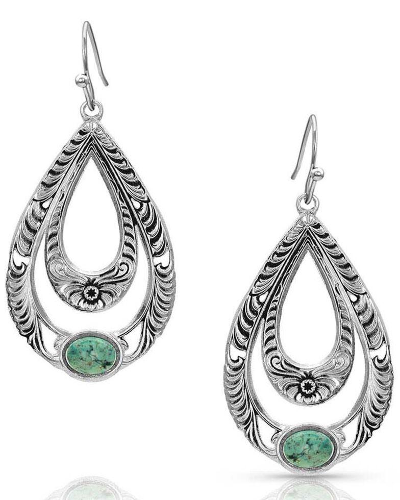 Montana Silversmiths Women's Hidden Canyon Turquoise Earrings, Silver, hi-res