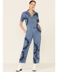 Wrangler Modern Women's Tie-Dye Boiler Jumpsuit, Blue, hi-res