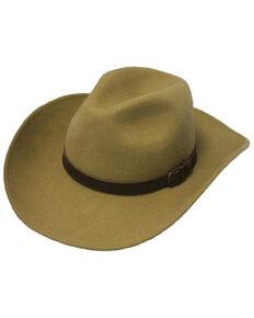 Henschel Men's Pecan Wool Felt Western Outback Hat , Pecan, hi-res