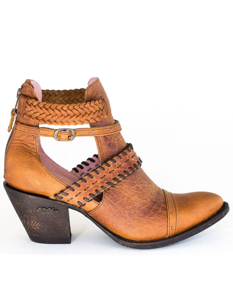 Miss Macie Women's I Dare You Fashion Booties - Round Toe, Brown, hi-res