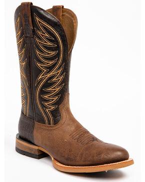 Ariat Men's Slick Fork Tobacco Toffee Performance Cowboy Boots - Round Toe, Tan, hi-res