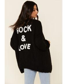 Elan Women's Women's Black Rock Mock Neck Sweater , Black, hi-res