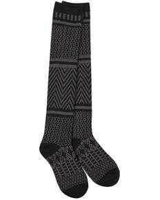 World's Softest Women's Weekend Gallery Knee-High Socks, Black, hi-res