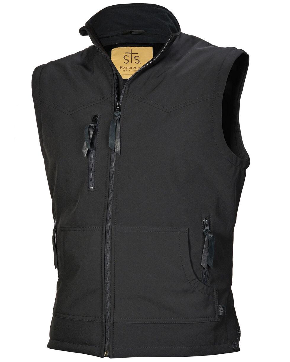 STS Ranchwear Men's Black Barrier Vest , Black, hi-res