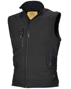 STS Ranchwear Men's Dark Heather Barrier Vest - Big  , Black, hi-res