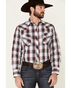 Roper Men's Classic Multi Plaid Long Sleeve Snap Western Shirt , Multi, hi-res
