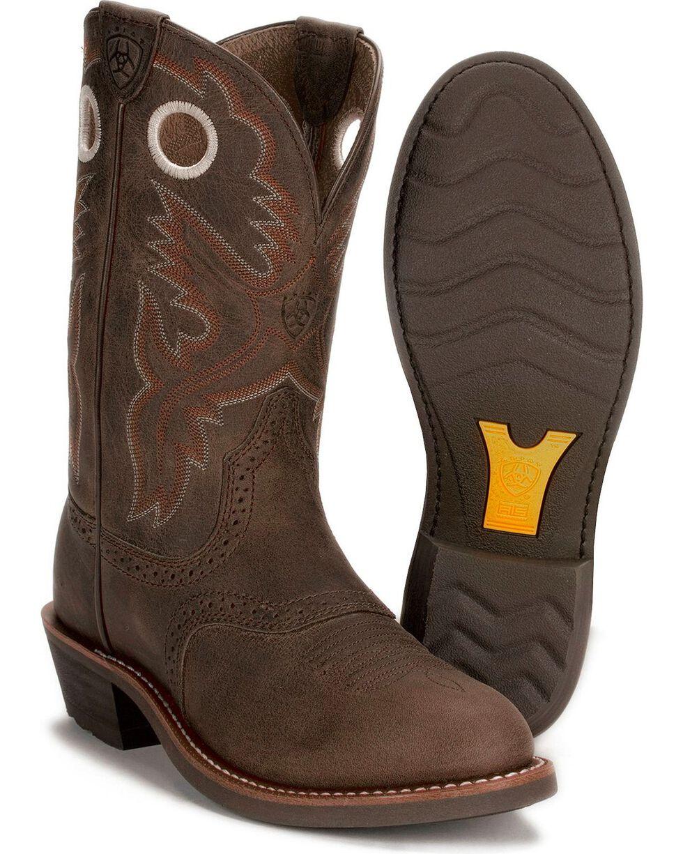 Ariat Heritage Rough Stock Boots, Antique Brown, hi-res