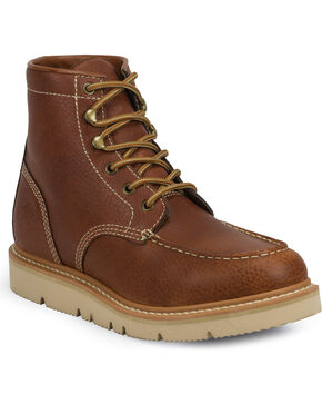 "Justin Men's 6"" Jacknife Electrical Hazard Work Boots - Moc Toe , Tan, hi-res"