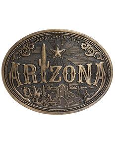 Cody James Men's Arizona American Heritage Buckle, Bronze, hi-res