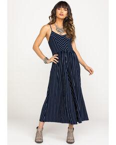 Mystree Women's Navy & White Stripe Wide Leg Jumpsuit , Navy, hi-res