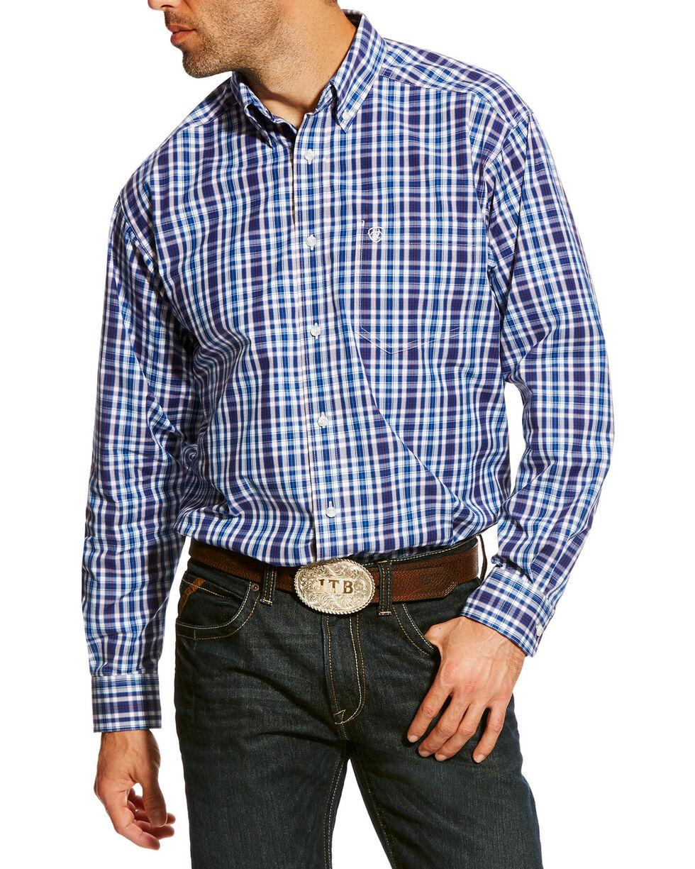 Ariat Men's Blue Abrahms Plaid Shirt , Blue, hi-res