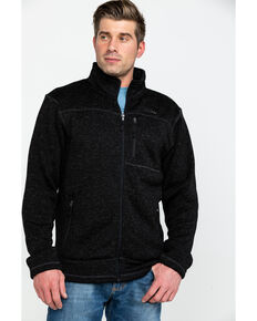 Powder River Outfitters Men's Black Melange Fleece Jacket , Black, hi-res