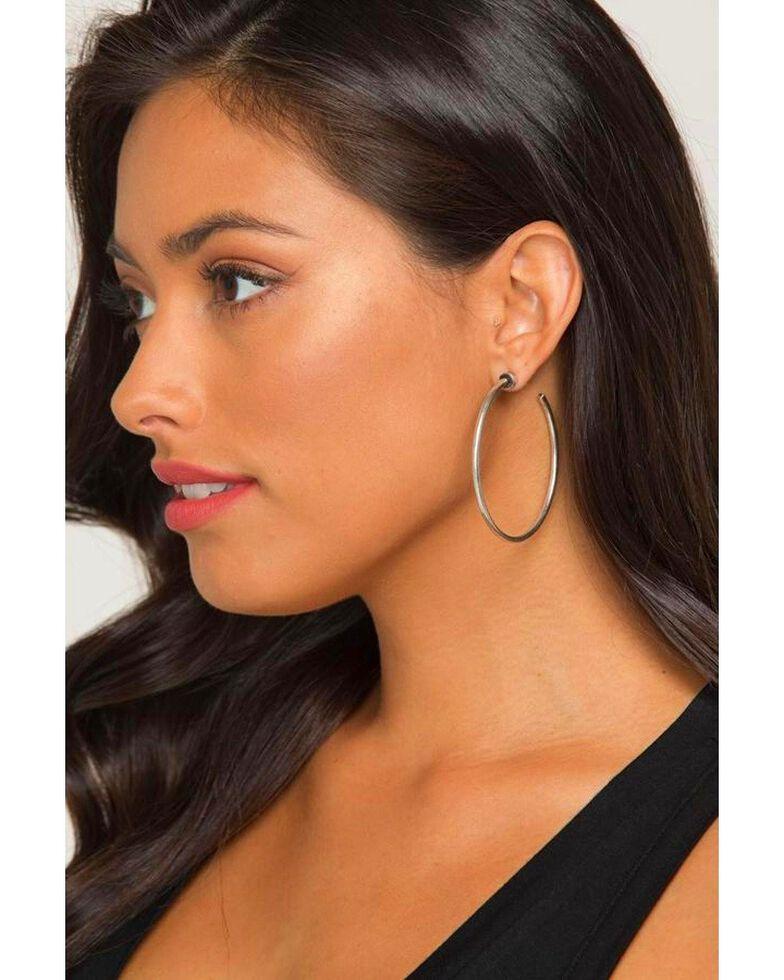 Idyllwind Women's Tex Trustie Hoop Earrings, Silver, hi-res