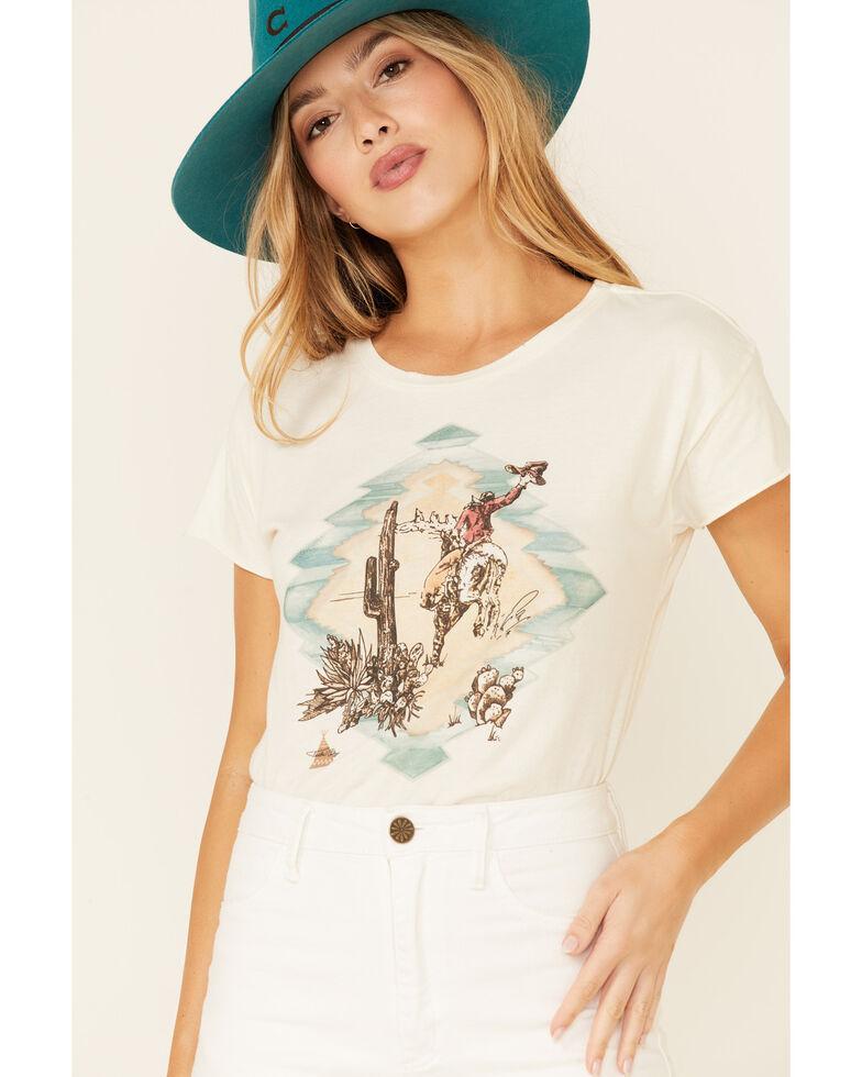 Tasha Polizzi Women's Ivory Gallup Graphic Short Sleeve T-Shirt , Ivory, hi-res