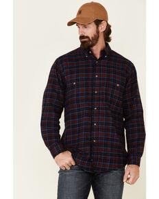 Wrangler Rugged Wear Men's Red Blue Ridge Long Sleeve Western Flannel Shirt , Red, hi-res