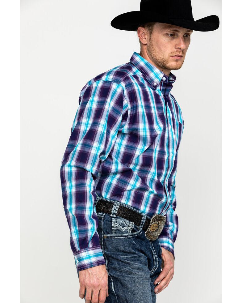 Ariat Men's Santos Large Plaid Long Sleeve Western Shirt - Tall, Multi, hi-res