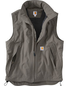 Carhartt Quick Duck Jefferson Vest - Big & Tall, Charcoal Grey, hi-res