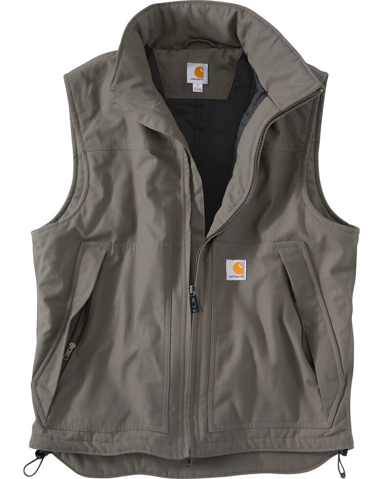 Carhartt Quick Duck Jefferson Vest - Big & Tall, Charcoal Grey, hi-res