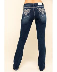Grace in LA Women's Tribal Bootcut Jeans, Blue, hi-res