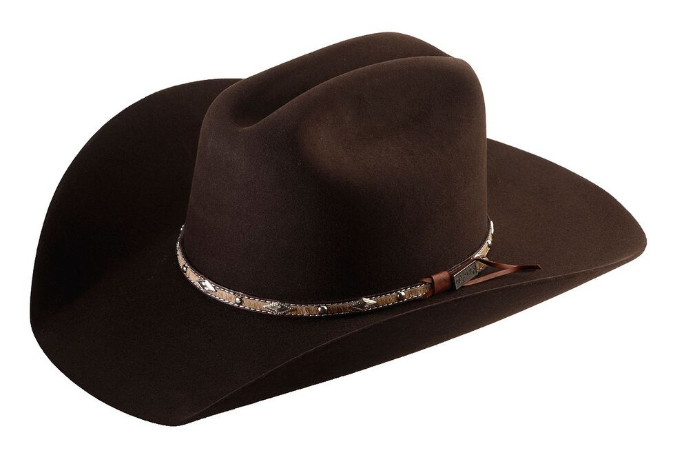 23745dcdf18d1 Larry Mahan 5X Brindle Brown Fur Felt Cowboy Hat - Country Outfitter