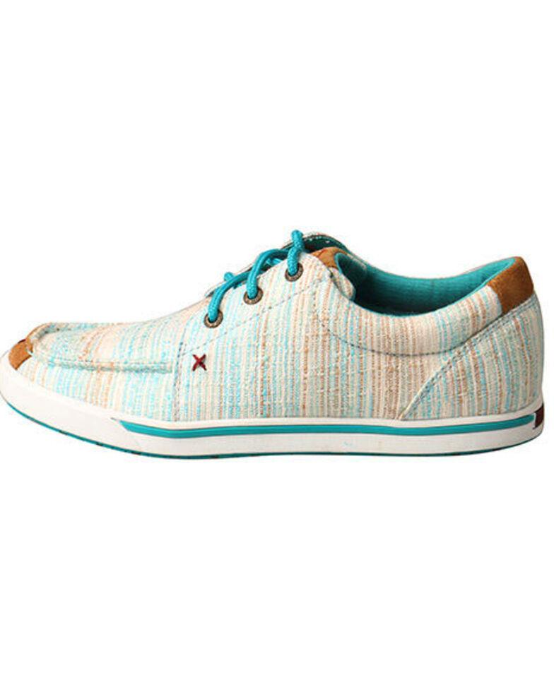 Twisted X Women's HOOey Loper Shoes - Moc Toe, Blue, hi-res