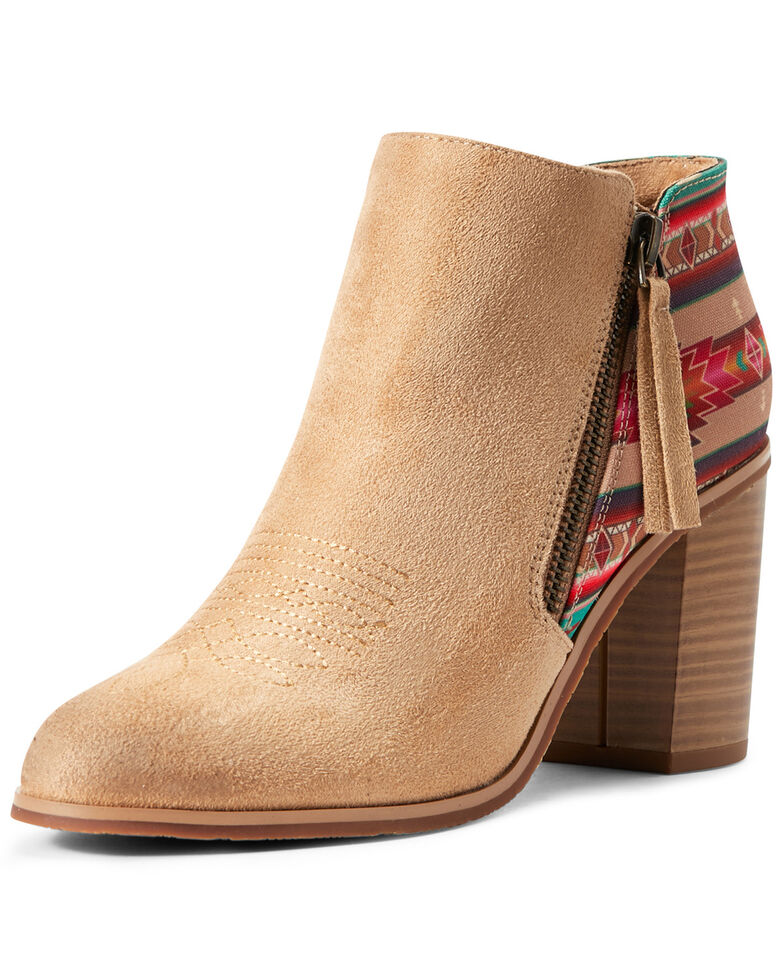 Ariat Women's Aztec Unbridled Kaylee Fashion Booties - Round Toe, Brown, hi-res
