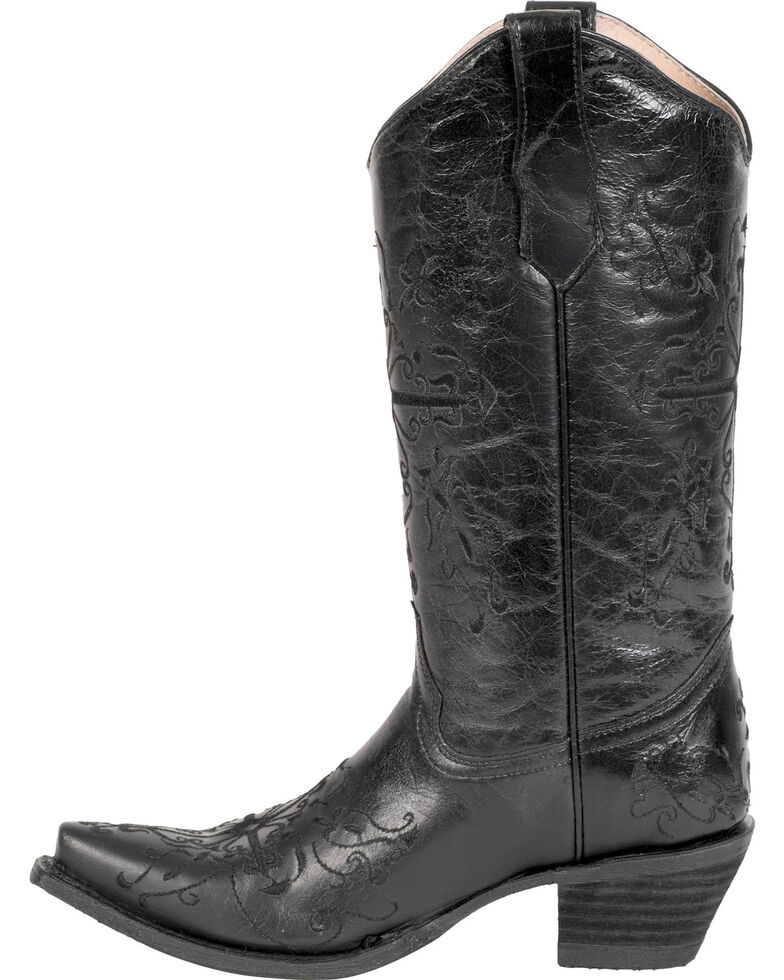 Circle G Women S Diamond Embroidered Cowgirl Boot Square: Circle G Cross Embroidered Cowgirl Boots