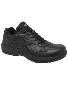 Ad Tec Women's Athletic Uniform Work Shoes - Round Toe, Black, hi-res