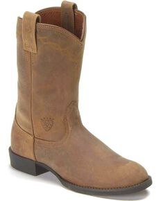 Ariat Women's Heritage Roper Boots, Distressed, hi-res