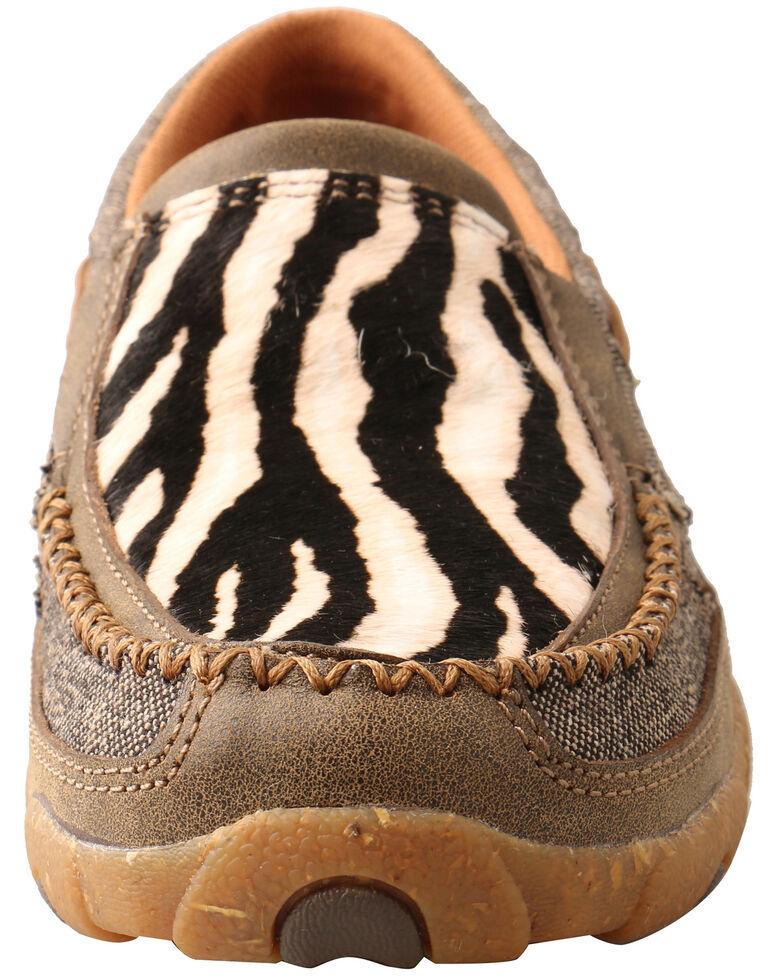 Twisted X Women's Slip-On Driving Shoes - Moc Toe, Black, hi-res