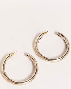 Idyllwind Women's Big Tex Trustie Hoop Earrings, Silver, hi-res