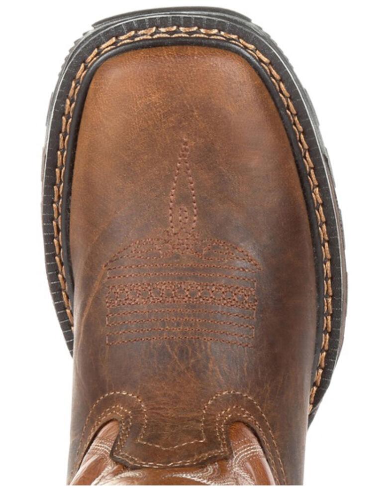 Durango Boys' Maverick XP Brown Western Work Boots - Soft Toe, Brown, hi-res