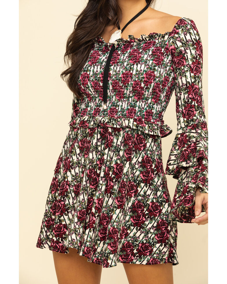 Rock & Roll Cowgirl Women's Floral Print Dress, Multi, hi-res