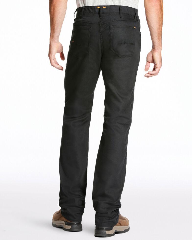 Ariat Men's Rebar M4 Stretch Canvas 5 Pocket Pants - Straight Leg , Black, hi-res