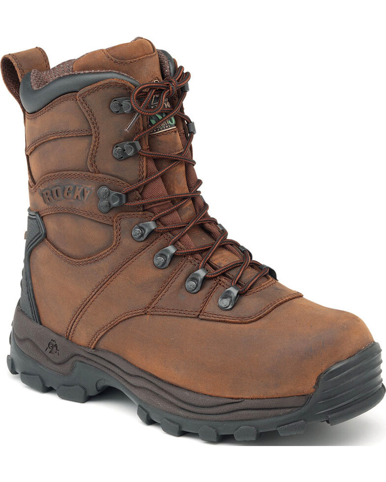 Rocky Sport Utility Pro Insulated Waterproof Boots - Round Toe, Brown, hi-res