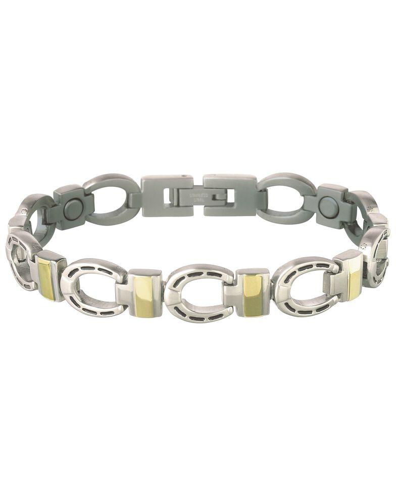 Sabona Horseshoe Link Magnetic Bracelet, Silver, hi-res