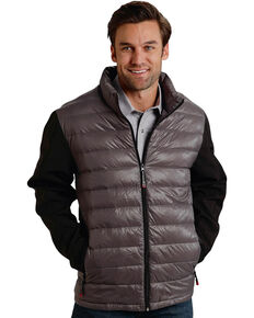 Roper Men's Grey Crushable Parachute Jacket, Grey, hi-res