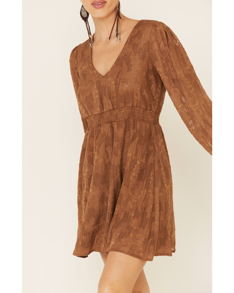 Sadie & Sage Women's Caramel Pompeii Lace Dress, Caramel, hi-res