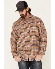 Pendleton Men's Camel Cascade Plaid Long Sleeve Western Shirt , Tan, hi-res