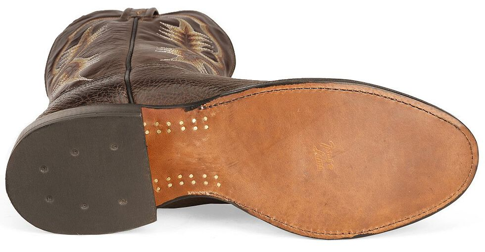 Tony Lama Chocolate Stockman Cowboy Boots - Round Toe, Chocolate, hi-res