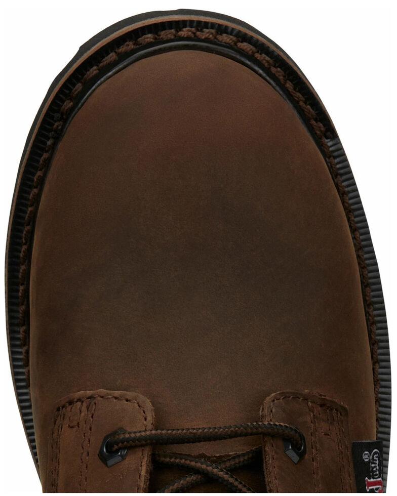 Justin Men's Drywall Work Boots - Soft Toe, Brown, hi-res