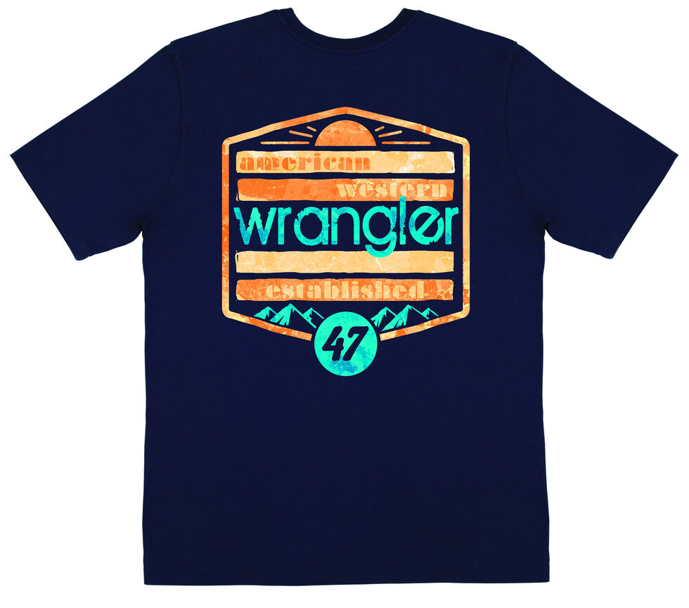 Wrangler Men's Navy American Western Tee, Navy, hi-res