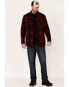 Hawx Men's Red Timberline Sherpa-Lined Flannel Work Shirt Jacket - Tall, Red, hi-res